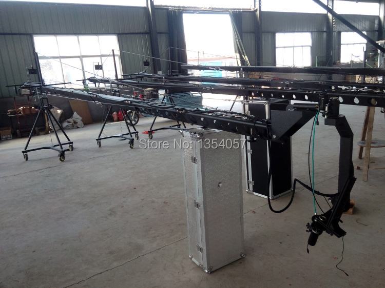 jimmy jib camera 12m 3-axis motorized dutch head camera  crane for sale Factory supply professional dv camera crane jib 3m 6m 19 ft square for video camera filming with 2 axis motorized head