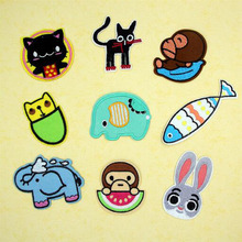 Fabric Embroidered Animal Cartoon Patches Clothes Stickers Bag Sew Iron On Applique DIY Apparel Sewing Clothing Accessories BU32