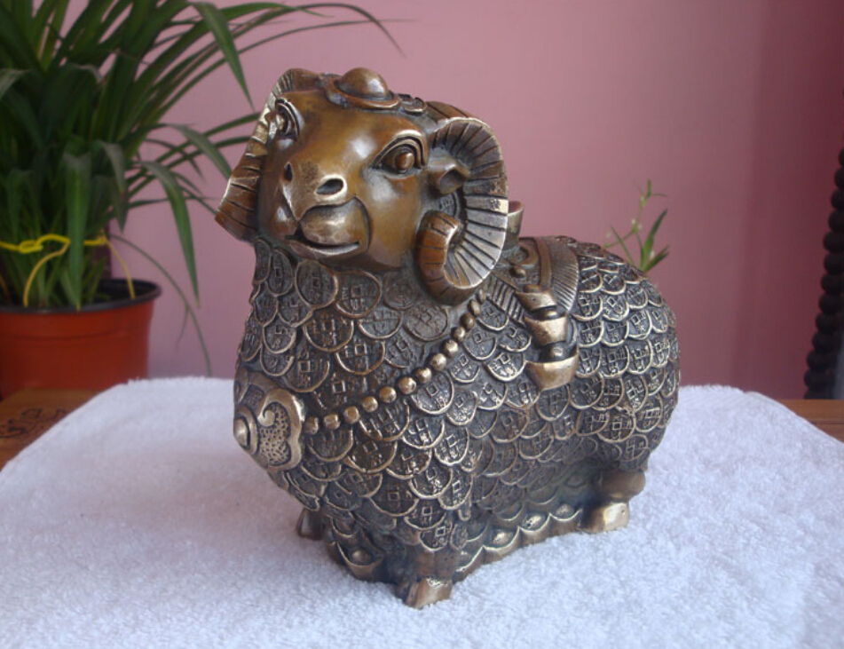 Pure copper fortune in the furnishing articles furnishing articles lucky sheep copper a thriving business and
