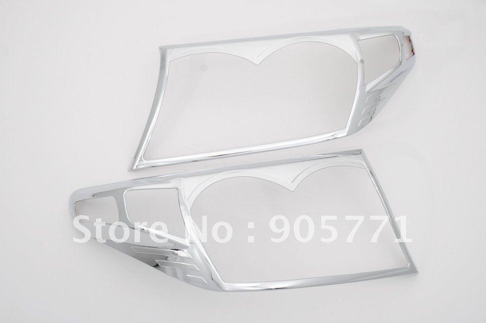 Couvercle de phare chromé de haute qualité pour Toyota Land Cruiser FJ200 08 Up livraison gratuite