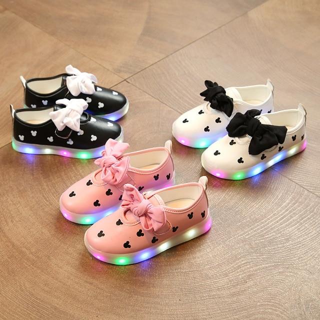 Mode Mignon LED Éclairage Enfants Chaussures Ve... LHEvw