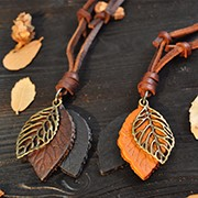 Wholesale-Retro-Style-Genuine-Leather-Pendant-Necklace-For-Men-Women-Vintage-Leaf-Accessories-Necklaces