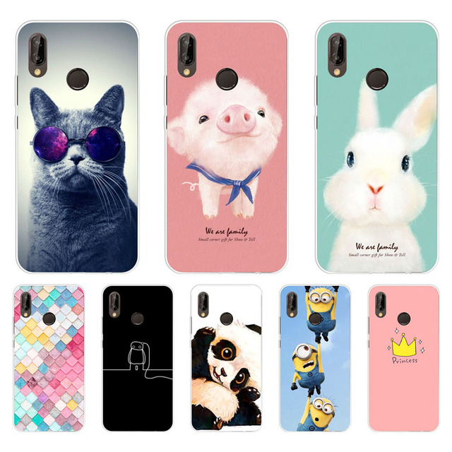 competitive price 5c74a 8fe0b US $1.89 5% OFF Huawei p20 lite Case,Silicon Painted animals Painting Soft  TPU Back Cover for Huawei p20 lite protect Phone cases shell-in Fitted ...