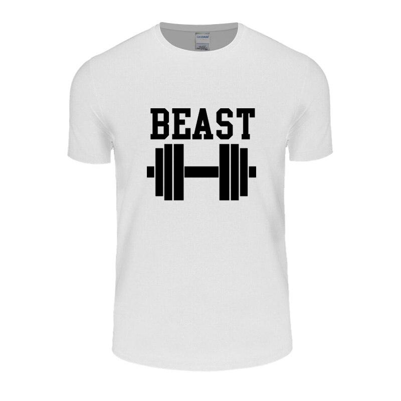 Summer Cotton T-Shirt Beauty And The Beast Men Novelty Gift Shirts Husband Harajuku