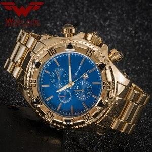Image 4 - יפן תנועת זהב שעונים גברים של Relogios Subaqua Masculino שעוני יד יוקרה מותג קוורץ שעון (צבע: זהב, כחול) זאב קאב