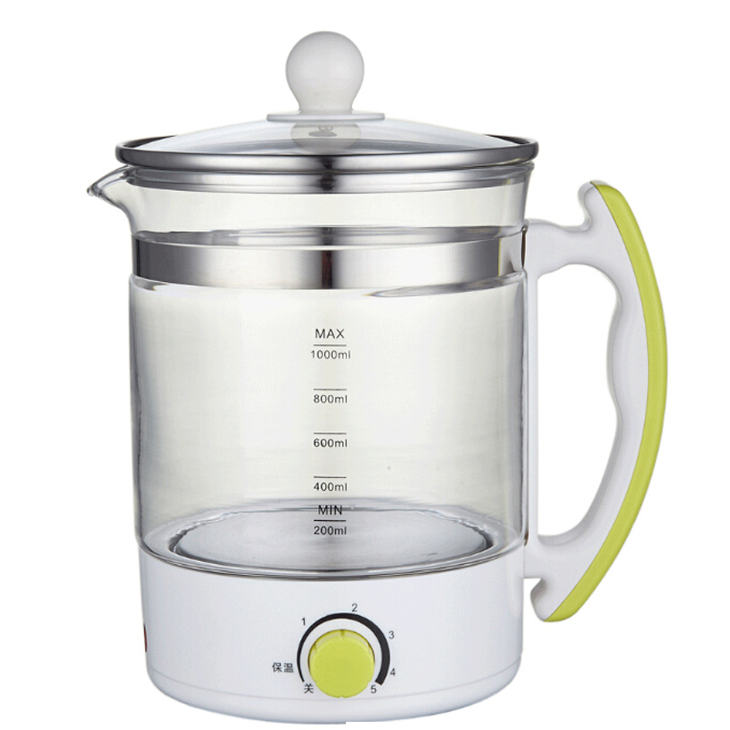 VOSOCO Electric kettle Boil water Multi-function High boron silicon glass Health preserving pot Tea Stew Boiled eggs Scented tea high temperature resistant glass cool water kettle high capacity tea kettle juice pot 2l