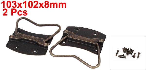 Wooden Box Chest Metal Puller Handles Bronze Tone 103x102x8mm / 88x87x8mm / 76x74x8mm / 64x63x6mm / 57x54x6mm / 45x42x5mm