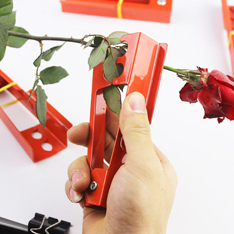 Florist Metal Garden Flower Rose Thorn Stem Leaf Stripper Rose Plier DIY Cut Tool  Removing Burrs Garden Tool
