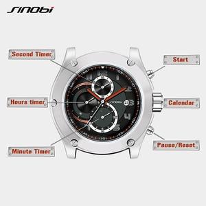 Image 5 - 2019 SINOBI Chronograph Calendar Waterproof Geneva Quartz Clock Military Hora Relogio Masculino Big Dial  Sports Quartz Watches