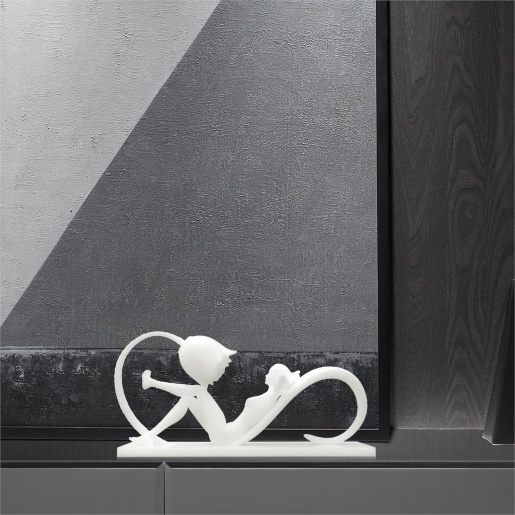 TOOARTS fleur bain jeune fille Statue 3D imprimé Sculpture beau bain de soleil femme Sculpture maison statue décoration accessoires