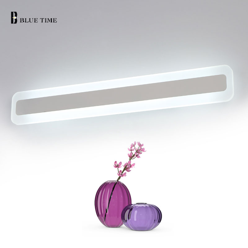 Image 5 - Acrylic Bathroom Mirror Front Light LED Wall Lamp Lustres For Bathroom Bedroom Wall Sconce Wall Lights Luminaria 120 100 80 60CM-in LED Indoor Wall Lamps from Lights & Lighting
