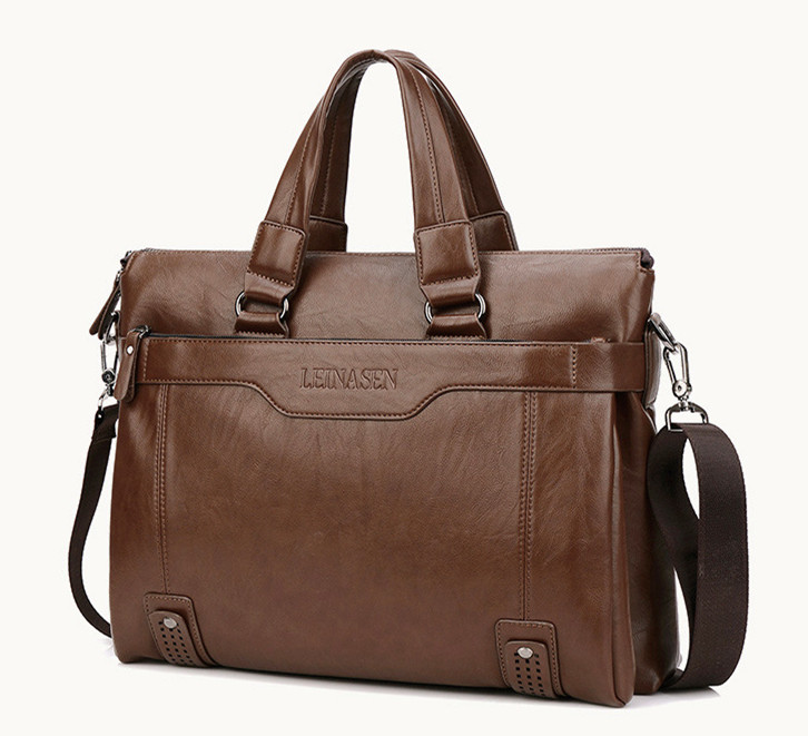 2019 Luxury Genuine Leather Men Briefcase Bag Handbag Business Messenger Men Bag Briefcase Sacoche Homme Laptop Bag