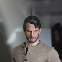 1/6 Scale Superman Henry Cavill Moustache Wandering Decadent Version Head Sculpt Headplay for 12 Action Figure Body
