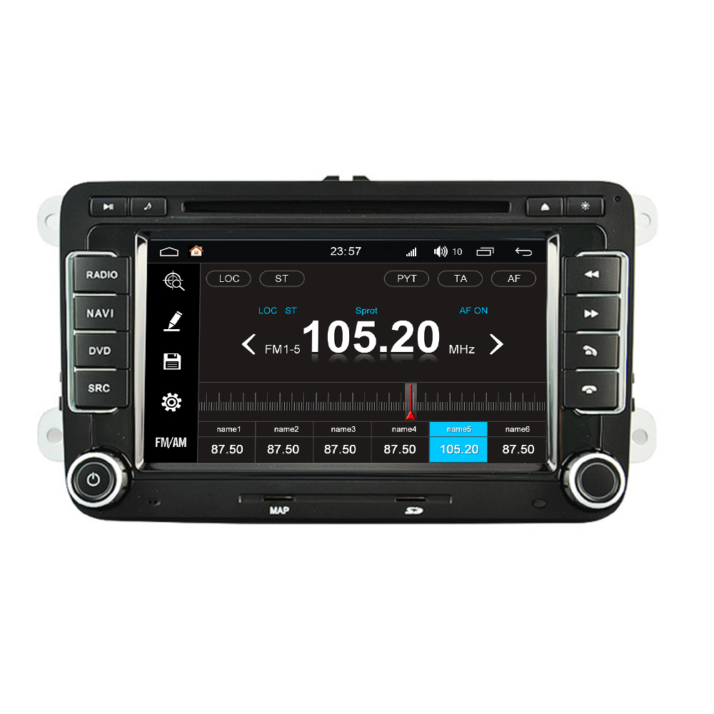 For VolksWagen For VW Jetta 2005 2012 Android 8.0 Auto Accessories Radio DVD GPS Navigator Media Bluetooth Headunit Monitor