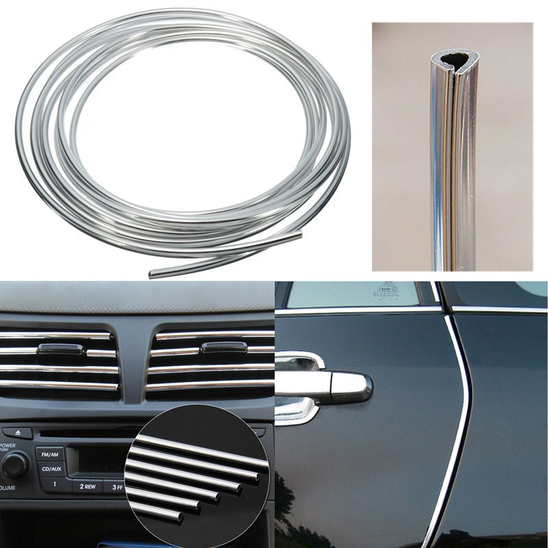 4m Pvc Silver Car Car Interior Decorative Decoration Door