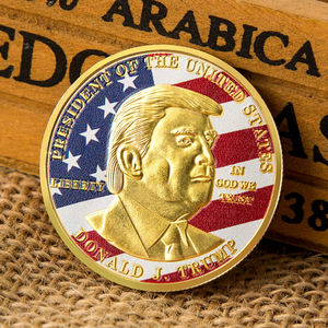 Флаг США президент Дональд Трамп инаугурационные памятные коллекционные монеты подарок Юбилейная Золотая монета