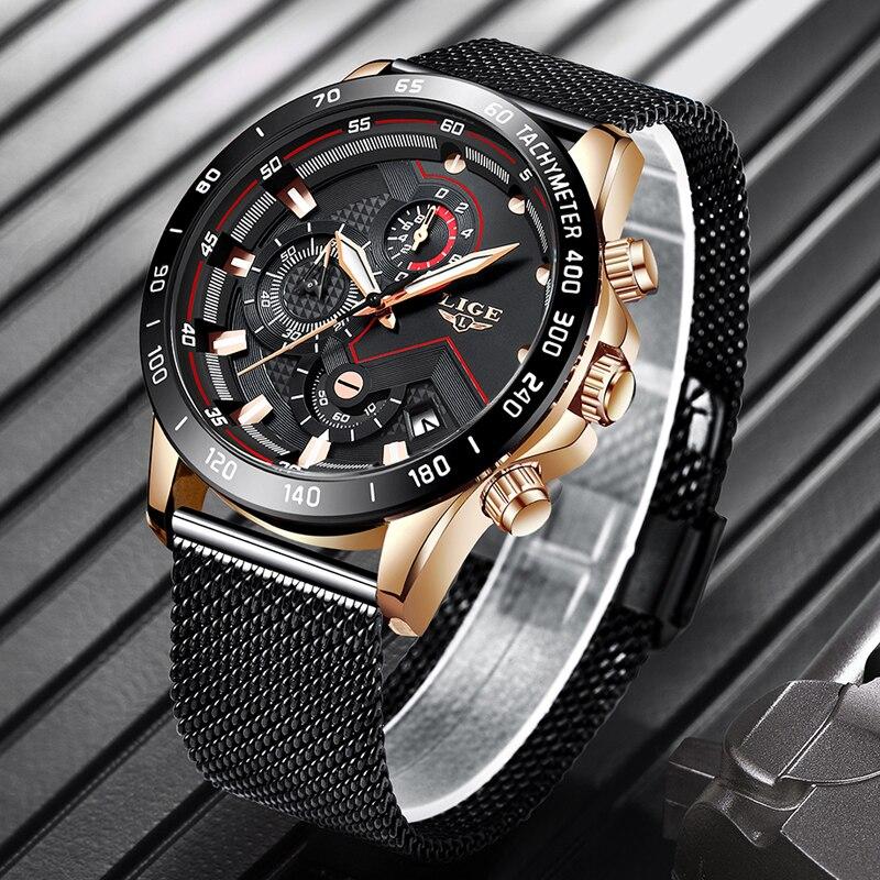 e5c6e1b3f6af Reloj LIGE para hombre reloj de cuarzo deportivo a la moda