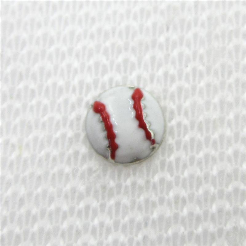 Hot selling 20pcs/lot Baseball Floating Charms Living Glass Memory Floating Lockets DIY Jewelry Sports Charms