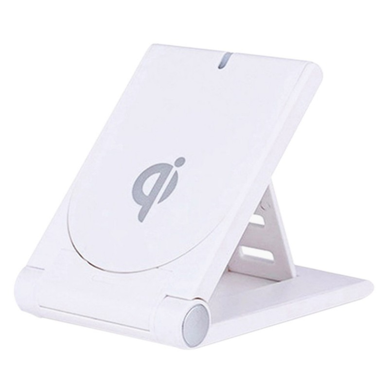 NEW Portable Charging Pad Qi Wireless Charger Foldable Bracket Vertical smart Phone Charger Mat for iphone Samsung xiaomi mix 2s|Mobile Phone Chargers| |  - title=