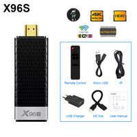 Smart 4K Android 8,1 caja de TV X96S Amlogic S905Y2 DDR4 4GB 32GB X 96S Mini PC TV Stick Bluetooth 4,2 5G WiFi TV dongle reproductor de medios