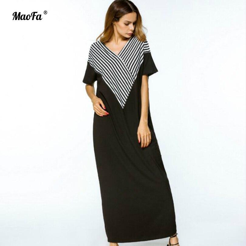Summer Beach Robes Longues pour Femmes V Cou À Manches Courtes Beachwear Maxi Robe Ethnique Africain Kaftan Longue Robe Boho Plage