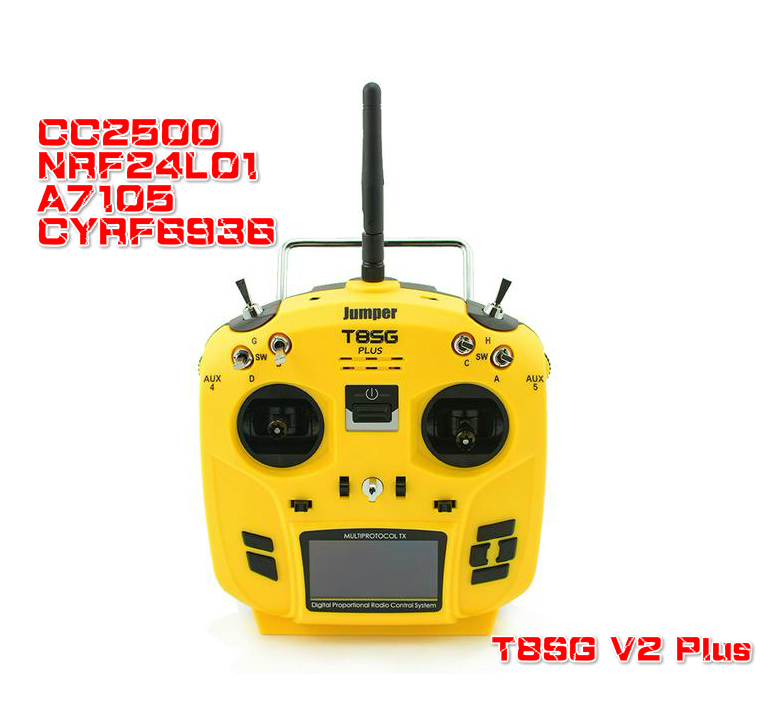 Jumper T8SG V2 Plus Hall cardan 12CH multi-protocole déviation CC2500 NRF24L01 A7105 CYRF6936 OLED transmetteur pour FLYSKY FRSKY