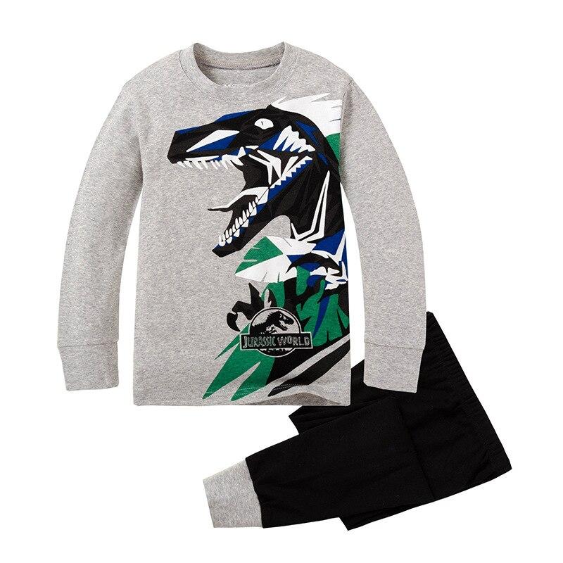 ⑥100% algodón de punto Niño pijamas con patrón de dibujos animados ...