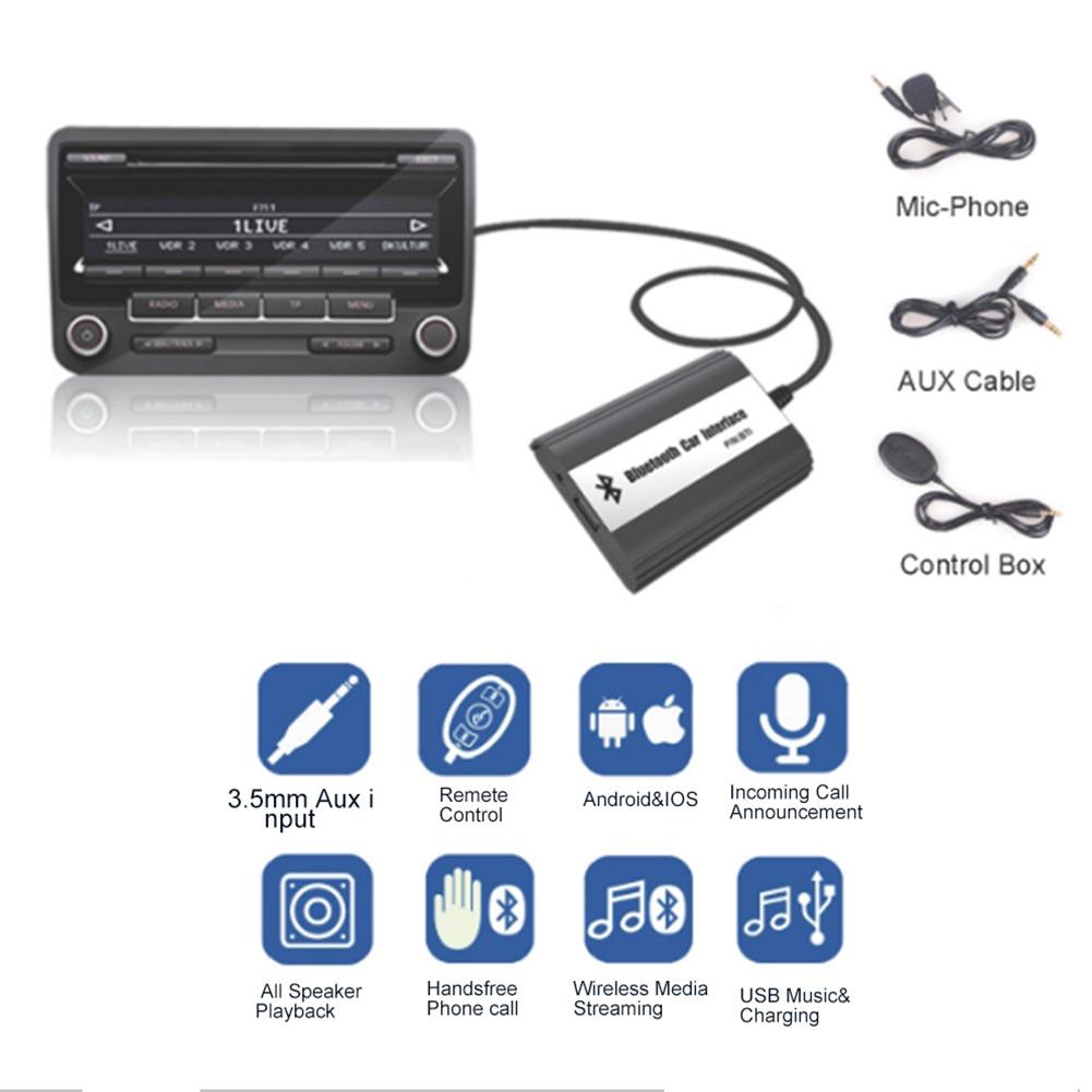 Car Bluetooth A2DP MP3 Music Adapter USB Charger Part For Honda Accord Civic CRV Acura CSX MDX RDX Interface fedar зажигания катушка для acura csx 11 06 l4 2 0 л honda accord 07 03 uf311 c1382