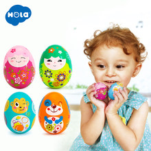 2PCS/Lot Baby Toys Funny Sand Eggs Toy Musical Instrument Developmental Toys for Children 0-12 months HOLA 3102C(China)