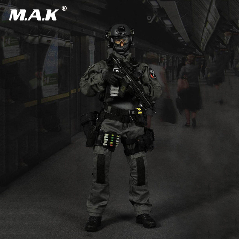 For Collection 1:6 SCO19 Man Action Figure Full Set Easy Simple ES 26017 British Special Police  Figure doll Toy full set