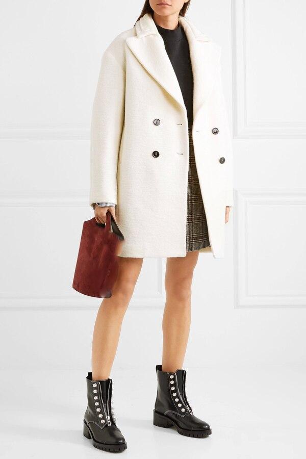 UK New Fashion 2020 Autumn / Winter Notched lapel mid length coat Women Simple Classic Overcoat Warm Casacos Manteau femme manteau femme coat fashionfashion coat - AliExpress
