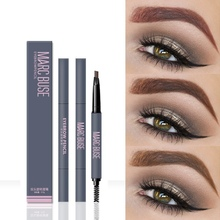 1PC Long Lasting Natural Double-head Automatic Eyebrow Pencil Enhancer Waterproof Permanent