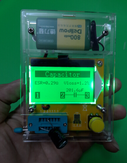 Practical Acrylic DIY Case Shell Quality + ESR Meter Transistor Tester Diode Triode Capaciteit Mos Mega328 Transistor Test