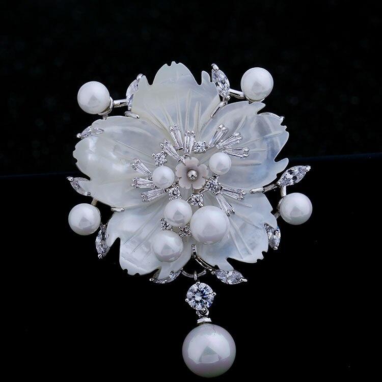 Nënë mahnitëse e Vjetër e Vjetër e Nuseve të Perlave Lule Pearl - Bizhuteri të modës - Foto 2