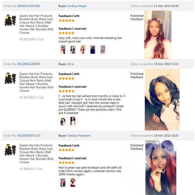 Reine comme Produits de Cheveux Brésiliens de Vague de Corps Avec Fermeture Non Remy cheveux Trame Weave 2 3 4 Faisceaux de Cheveux Humains Bundles Avec fermeture 5