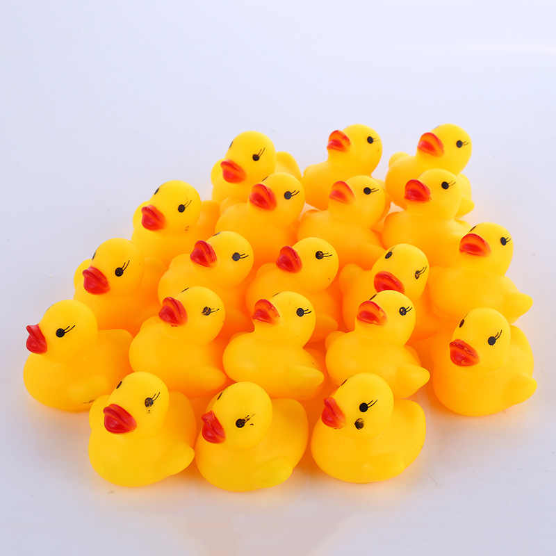 Детские игрушки для ванной, 10 шт./пакет, детские милые резиновые утки для ванны, детские игрушки для купания, Классические игрушки для купания, утка