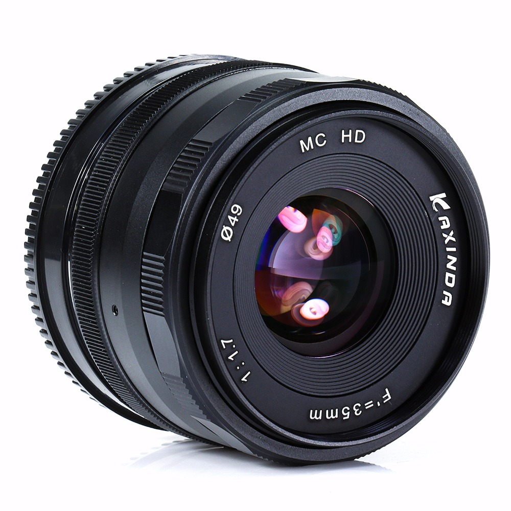 New Kaxinda 35mm f 1.7 lens APS-C camera lens For fujian Nikon 1 J1 V1 Camera Black mirroless for aps c camera 35mm f 1 6 33mm f1 6 for micro camera free shipping