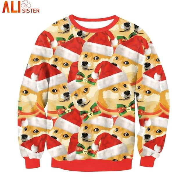 30e286fb Many Doge Meme Dogs 3d Hoodie Sweatshirt Funny Christmas Clothing Pullover  Alisister Harajuku Hooded Hip Hop