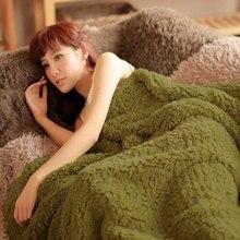 Thickened Fleece Bed Blanket Queen King Size Casual Plush Sherpa Warm Soft Blanket leecedeken Mantas E Cobertor De Casal