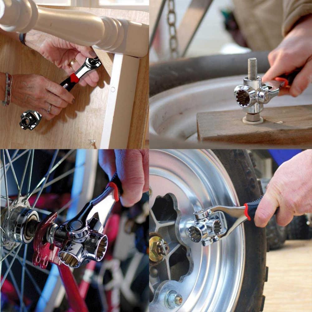 Новый универсальный 48-in-1 360 градусов 6-точечный Тигр гаечные ключи Инструменты для ремонта автомобилей ключ, дюймовый стандарт Многофункциональный назначение гаечный ключ инструменты Прямая поставка