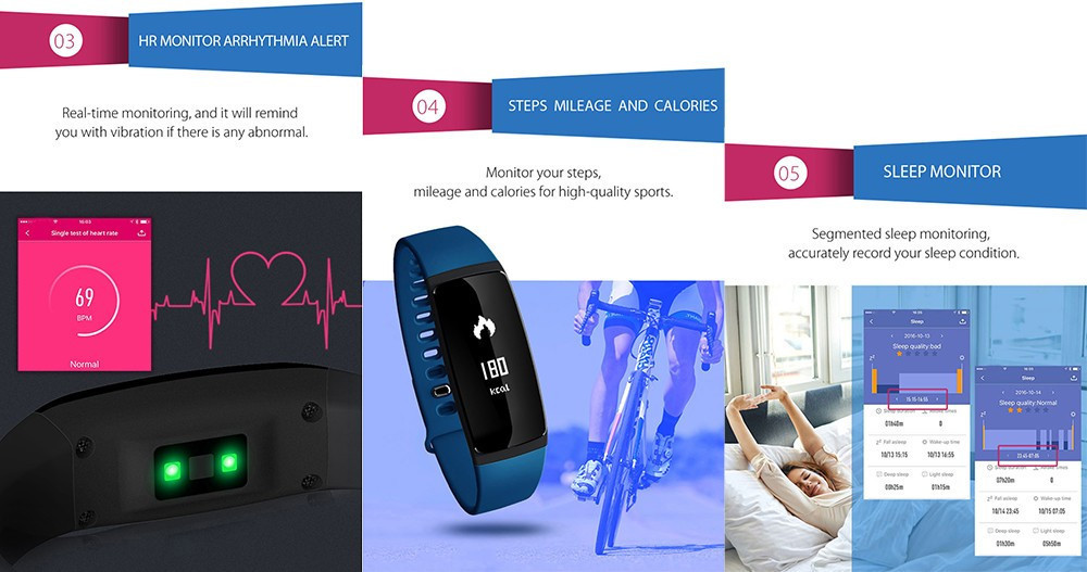 V07 Smart Bracelet Blood Pressure Watches Smart Band Heart Rate Monitor Fitness Pulsometro Activity Tracker for Smartphones 5