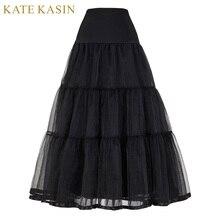 Винтажное платье юбка для свадьбы ретро кринолин женщин Свадебные аксессуары черный, белый цвет Длинные Подъюбники Нижняя