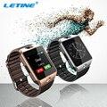 Letine dispositivos wearable smartwatch dz09 smart watch sim suporte cartão tf eletrônica telefone do relógio de pulso para ios smartphone android