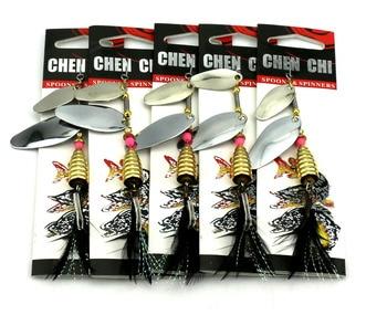 Nuevo 10 unid/set 7 tipo gran cuchara de señuelo de pesca cebo artículos mosca para pescar frente envío gratis
