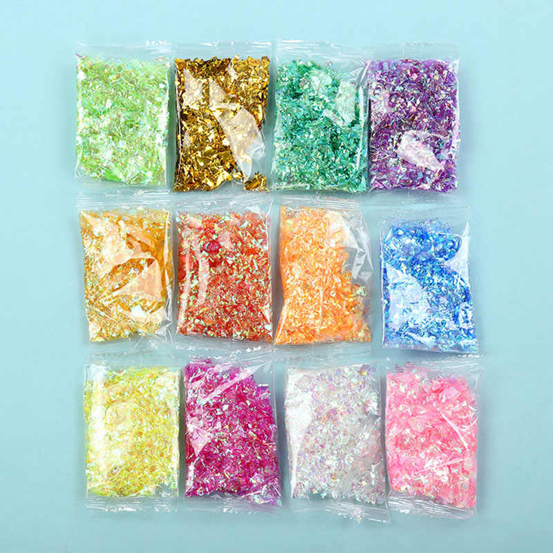 3g candy paper 12 color shell paper slime slime filler  Clay Toy DIY Slime Accessories Decor Jelly Mud Hand Gum Polyer Clay Kids