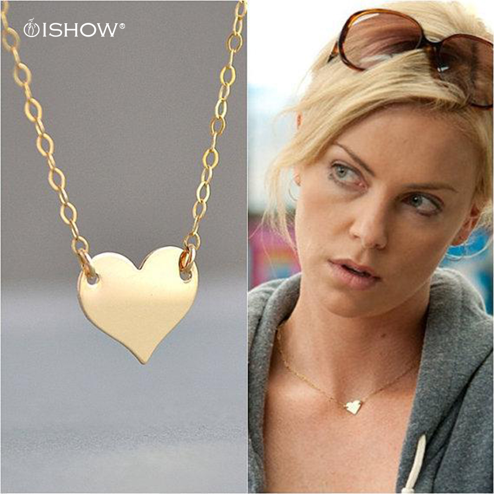 Initial Heart Necklace Gold Filled Petite Simple Necklace