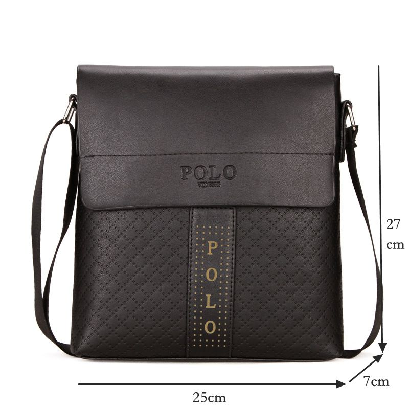 43a8b56eed Hot Sale Brand POLO Men Crossbody Bags Male Small Shoulder Bags Fashion  Flap Men Messenger Bags Laptop Men Leather Handbag M174