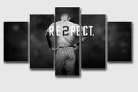 Unframed 5 Panel wall art design Oil Paintings living room decor Pictures Respect Sports Posters Modern Home Bedroom Backdrops