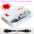Все в одном Супер Скорость 5 Гбит USB 3.0 SD Micro SD SDHC SDXC TF MS CF TF Card Reader Адаптер Для Портативных ПК до 256 ГБ