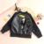 BBK 16 Boys & girls del bebé escudo chaqueta de cuero párrafo linda delgada sección de la Primavera y El Otoño de Los Niños prendas de Vestir Exteriores Pájaros negros niños